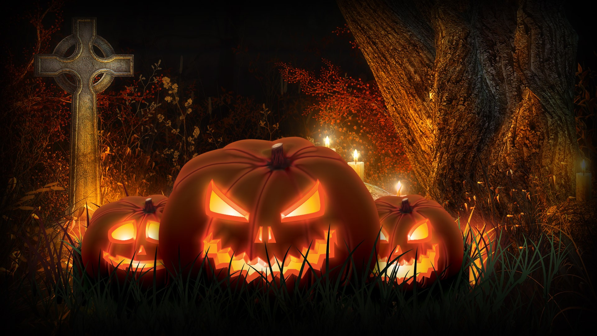Scary Halloween Pumpkin Images